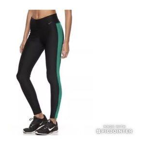 Nike Womens Power Victory Leggings Black Teal L